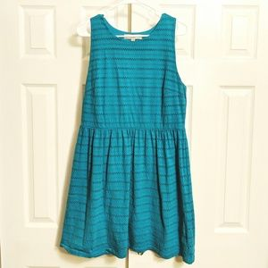 Ann Taylor Loft turquoise sleeveless dress, size L